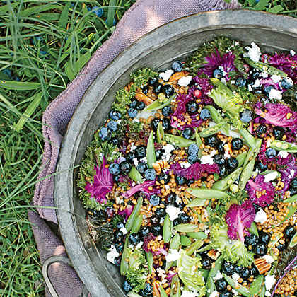 Blueberry-and-Kale Grain Salad