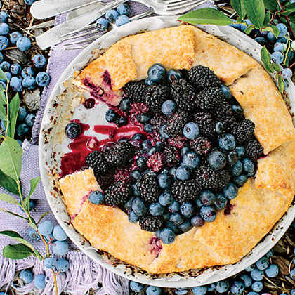 Double Berry-Almond Galette