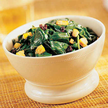 Spinach with Lemon and Currants