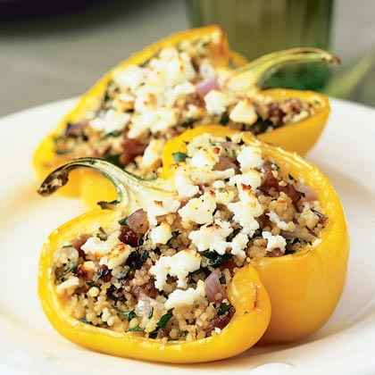 Mediterranean Lamb- and Couscous-Stuffed Peppers