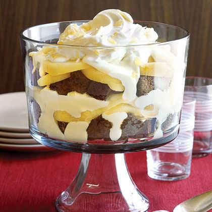 Gingerbread Pear Trifle
