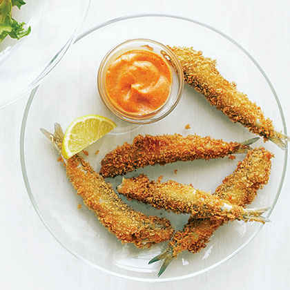 Anchovy Fries with Smoked Paprika Aioli