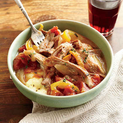 Italian Braised Pork with Polenta