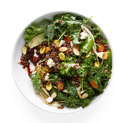 Kale Salad with Red Quinoa, Fennel, and Carrots