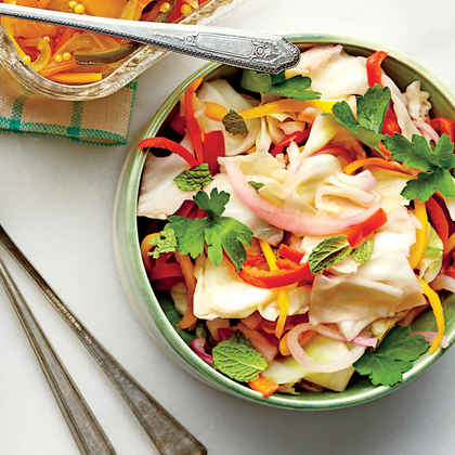 Napa Cabbage-and-Sweet Pepper Slaw