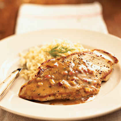 Chicken with Maple-Mustard Sauce