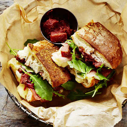 Prosciutto Panini with Rhubarb Relish