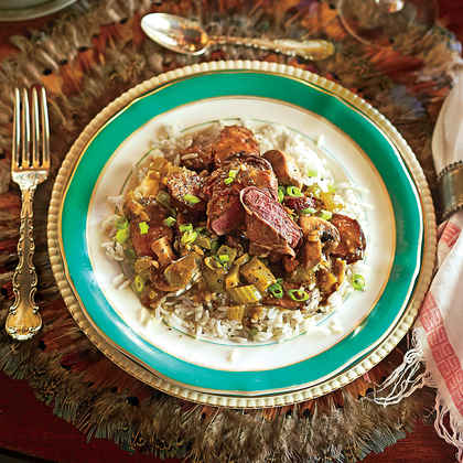 Prosciutto-Wrapped Duck with Gumbo Gravy