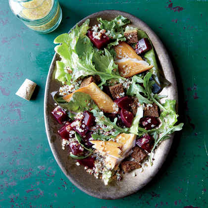 Quinoa, Smoked Trout, and Beet Salad