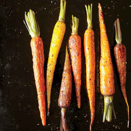 Roasted Whole Carrots