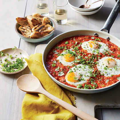 Saucy Skillet-Poached Eggs
