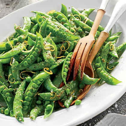 Snap Peas with Herb Butter