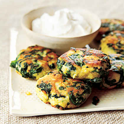 Spinach-Potato Fritters
