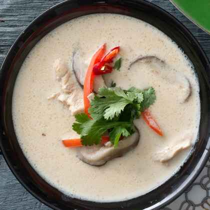 Thai Chicken Soup With Coconut and Lime
