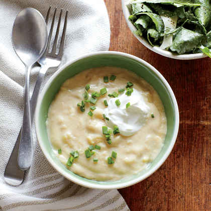 White Cheddar and Chive Potato Soup