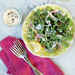 Spinach and Arugula Salad with Creamy Parmesan Dressing Recipe