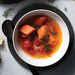 Salmon Soup with Tomato Dill and Garlic