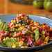 Greens with Roasted Corn and Pepper Salad Recipe