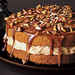 Pecan Cake with Caramel Mousse and Brown Sugar Topping Recipe