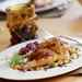 Glazed Cornish Hens with Wild Rice-and-Apricot Stuffing Recipe