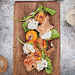 Grilled Apricots with Burrata, Country Ham and Arugula Recipe