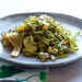Spinach Fettuccine with Tangy Grilled Summer Squash Recipe