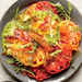 Beefsteak Tomato Salad with Fried Tomato Skins Recipe