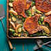 Pork Chops with Roasted Apples and Brussels Sprouts Recipe
