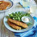 Pretzel-Crusted Chicken Breast Tenders with Garlicky Dipping Sauce Recipe