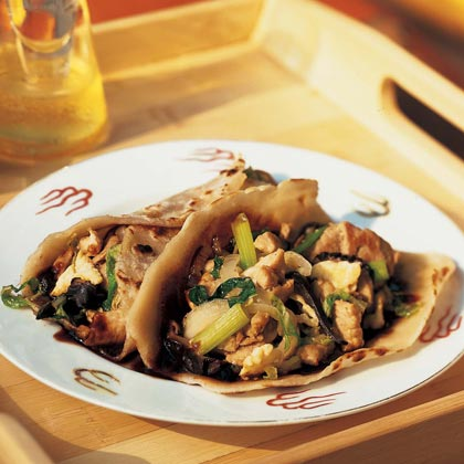 Moo Shu Pork With Mandarin Pancakes Recipe | MyRecipes