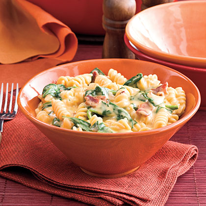 Spinach-Bacon Mac and Cheese