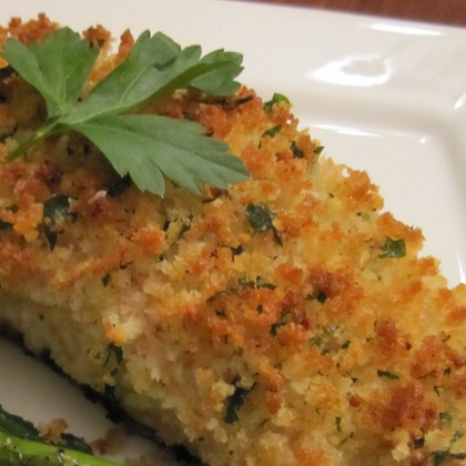 Parmesan crusted baked fish for Parmesan crusted fish