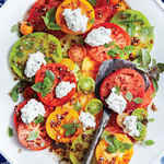 Tomato Salad with Herbed Ricotta and Balsamic Vinaigrette