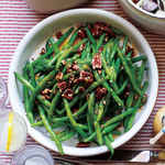 Green Beans with Pecans and Maple Vinaigrette