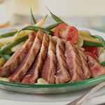 Summer Salad of Seared Tuna, Lima Beans, and Tomatoes