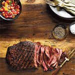 Spice-Rubbed Flank Steak with Fresh Salsa