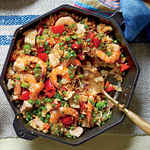 Skillet Rice with Shrimp and Chicken