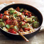 <p>Chicken and Sausage Gumbo</p>