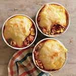 <p>Tamale Chicken Potpies</p>