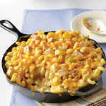 <p>King Ranch Chicken Mac and Cheese</p>