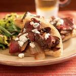 Steak and Blue Cheese Pizza
