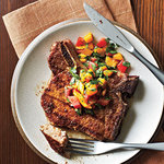 Pork Chops with Caribbean Rub and Mango Salsa