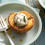 Honey-Roasted Peaches With Lavender