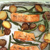 Sheet Pan Salmon, Green Beans, and Potatoes