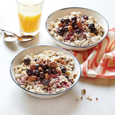 Flaxseed Oatmeal with Blueberies