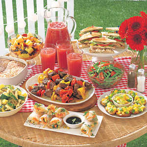 Backyard Beach Party Menu
