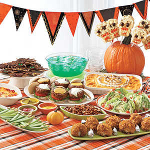 Kids halloween party menu myrecipes for Food ideas for toddler halloween party