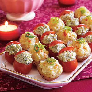 Cherry Tomatoes with Broccoli Filling Recipe