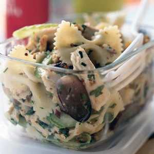 <p>Roasted Chicken and Bow Tie Pasta Salad</p>