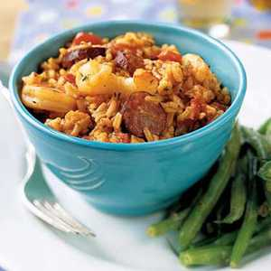 <p>Jambalaya with Shrimp and Andouille Sausage</p>